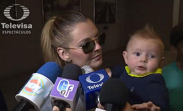Marjorie de Sousa y  su hijo Matías Gregorio | Captura de video