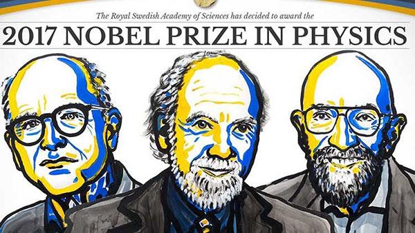 Detección de ondas gravitacionales es galardonada con el Premio Nobel de Física 2017