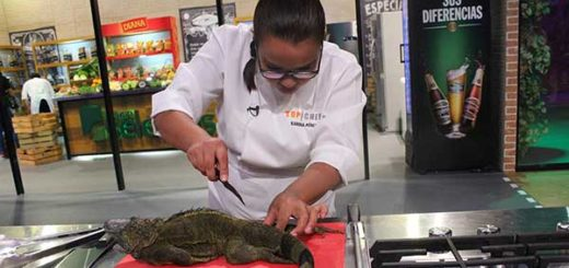 Muestran preparación de una iguana en Top Chef SV  | Foto: Elmundo