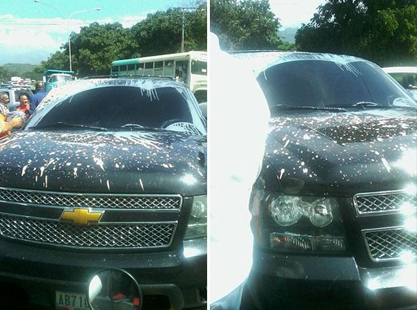 Motorizados atacaron el vehículo de Ramos Allup en Aragua | Fotos: El Nacional
