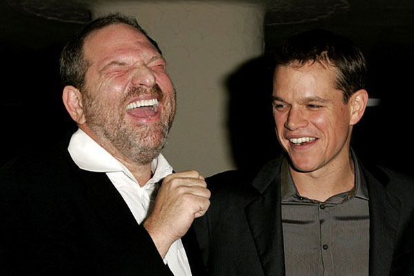 Matt Damon y Harvey Weinstein | Foto: Wirelmage