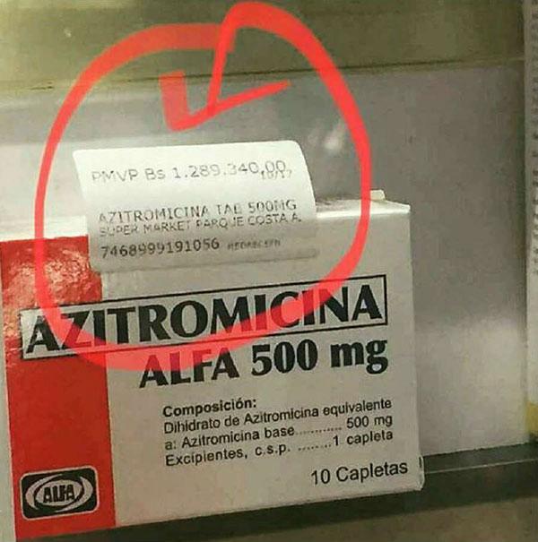 Azitromicina | Créditos: La Patilla
