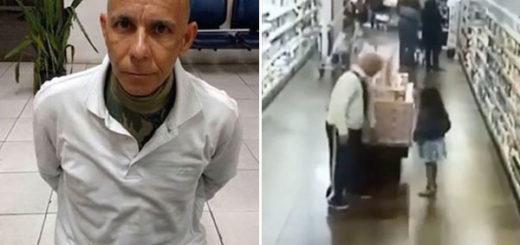 Abusó de una niña dentro de un supermercado y quedó grabado en las cámaras | Composición