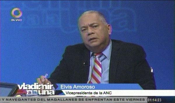 Elvis Amoroso en entrevista para Vladimir a la 1 | Foto: Captura