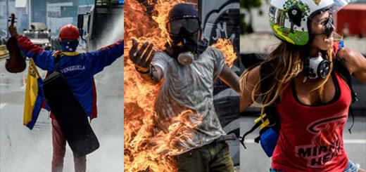 Íconos de las protestas en Venezuela se dividen entre votar o no votar | Fotos: AFP