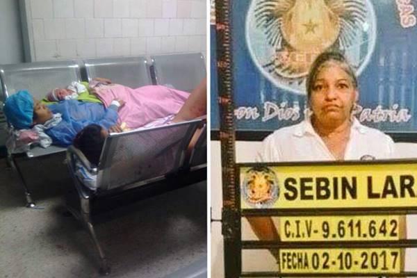 Trabajadora del IVSS está detenida en el Sebin por foto de parturientas | Composición