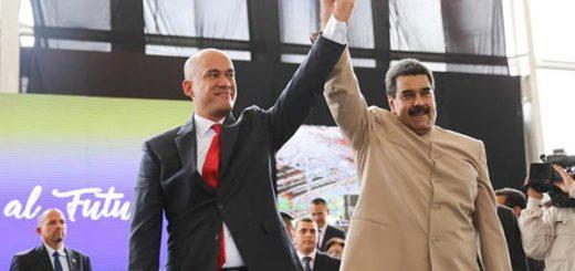 Jorge Rodríguez y Nicolás Maduro | Foto: @PresidencialVen