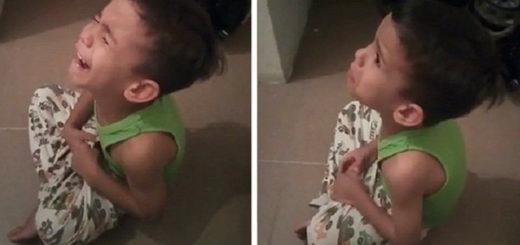 Niño llora porque no quiere ir a la escuela de Maduro | captura de video