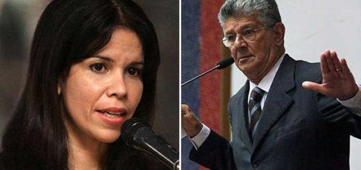 Gabriela Ramírez arremete contra Henry Ramos Allup | Composición Notitotal