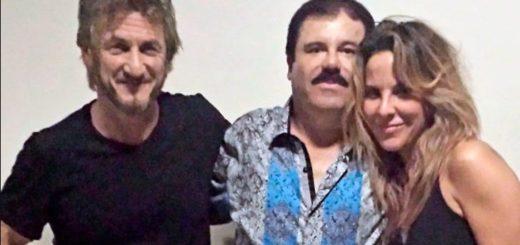 Kate del Castillo junto a Sean Pean y el Chapo Guzmán | Foto archivo