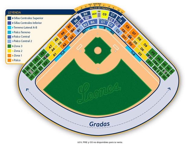 Distribución de los asientos en el Universitario | Foto cortesía