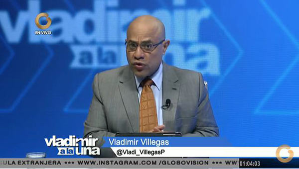 Periodista venezolano Vladimir Villegas | Foto: Captura de video
