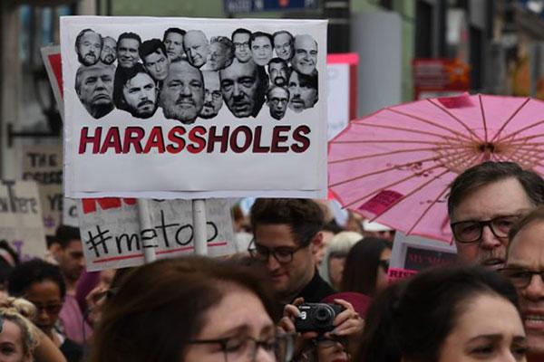 Mujeres marcharon en el corazón de Hollywood contra el abuso sexual | Foto: AFP