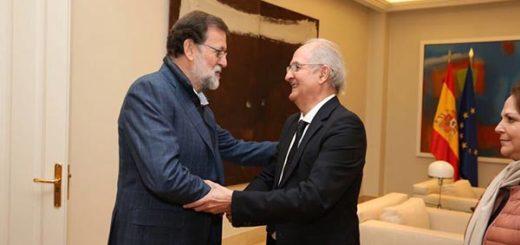 Mariano Rajoy y Antonio Ledezma |Foto cortesía