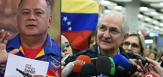 Diosdado Cabello /Antonio Ledezma  Fotomontaje: Notitotal