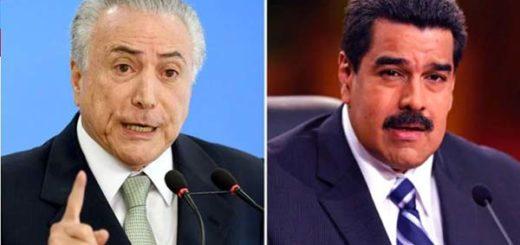 Presidentes Michel Temer y Nicolás Maduro |Composición: Infobae