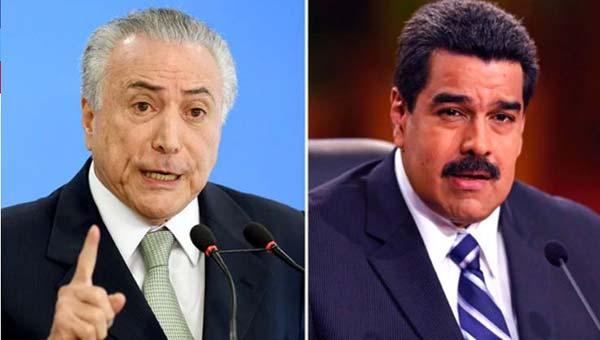 Presidente de Brasil, Michel Temer y Nicolás Maduro |Composición: Infobae