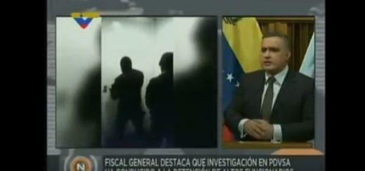 Detención de Eulogio del Pino y Nelson Martínez |Captura de video