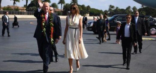 Donald Trump visitará Japón junto a su esposa Melania |Foto. AFP