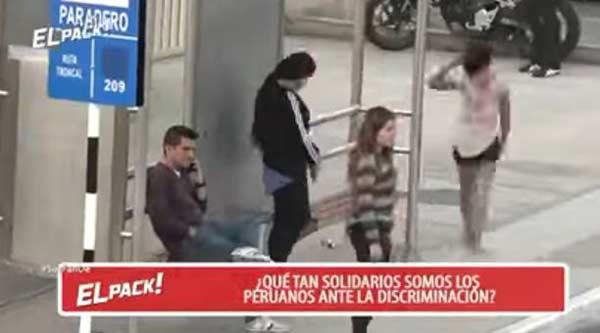 Prueba de xenofobia en Perú |Captura de video
