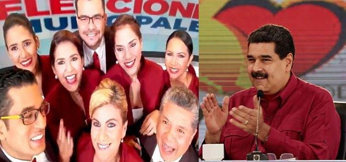 Trabajadores de Vtv felicitaron al presidente Nicolás Maduro |Fotomontaje: Notitotal