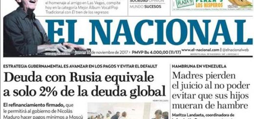 Portada de diario nacional |Cortesía: Kiosko.net