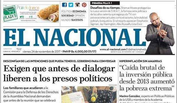 Portada de diario nacional| Cortesía: Kiosko.net