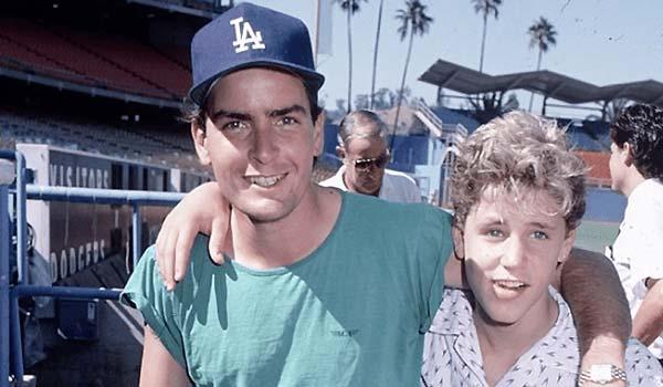 Charlie Sheen con Corey  Haim