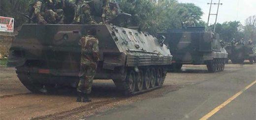Tensión en Zimbabue: Convoy de tanques blindados ingresan a la capital del país | Foto: