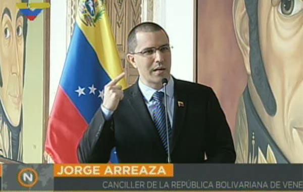 Canciller de Venezuela, Jorge Arreaza | Foto: Twitter