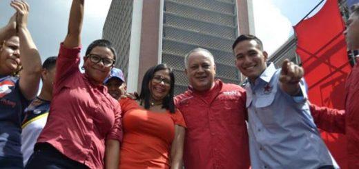 Érika Farías, Delcy Rodríguez, Diosdado Cabello |Foto cortesía