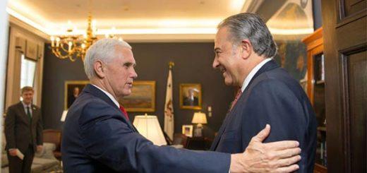 Vicepresidente de EEUU, Mike Pence y Vicepresidente de Colombia, Óscar Naranjo |Foto: EFE