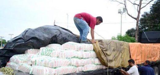 Autoridades decomisaron harina de maíz |Foto: Diario La Verdad