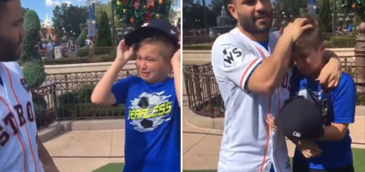 Niño venezolano lloró al encontrarse con José Altuve en Disney | Composición