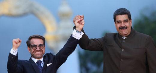 Rafael Lacava y Nicolás Maduro   Foto: AVN