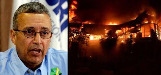 Motta Domínguez responsabiliza a la oposición por el incendio en Corpoelec | Notitotal