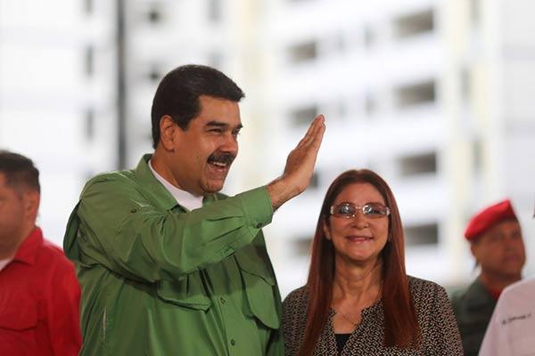 Nicolás Maduro y Cilia Flores |Foto cortesía