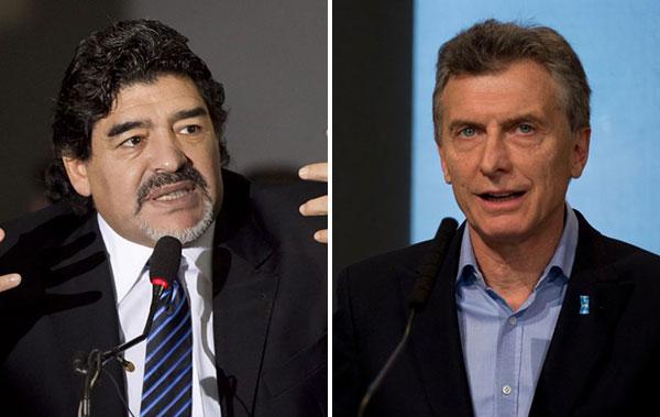 Maradona arremetió contra el presidente Mauricio Macri | Composición