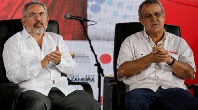 Nelson Martínez y Eulogio del Pino, ex presidentes de PDVSA |Foto cortesía