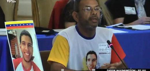 Padre de Fabián Urbina pidió a la OEA justicia frente a represión del régimen de Maduro | Captura de video