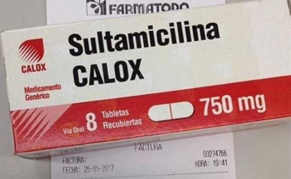Precio de la sultamicilina |Foto cortesía