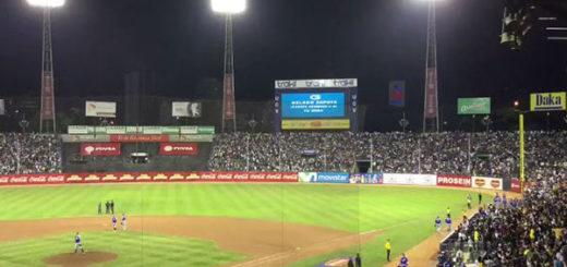 El mensaje que apareció en la pantalla del Caracas - Magallanes y dejó atónito a los presentes | Captura de video