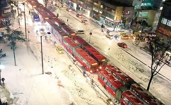 Granizo en Bogotá | Foto: Twitter