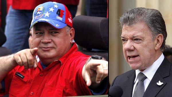Diosdado Cabello arremete contra Juan Manuel Santos | Composición Notitotal