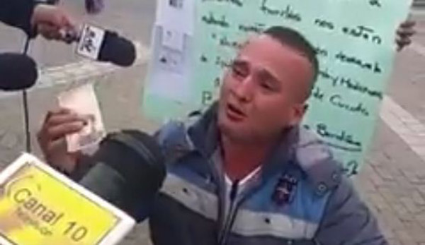 Venezolano en Colombia clama por ayuda | Foto: Captura de video