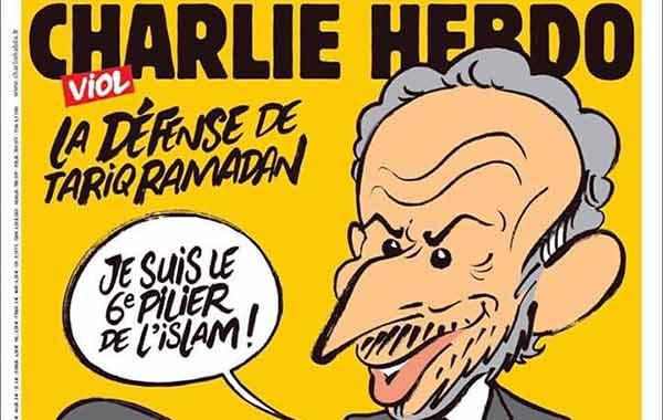 La tapa de Charlie Hebdo con el predicador islamista Tariq Ramadan | Captura