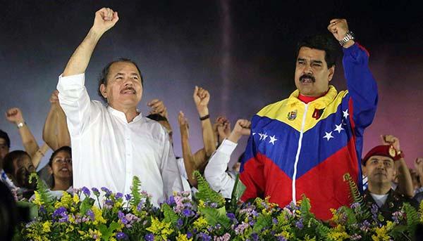 Daniel Ortega, Presidente de Nicaragua junto a su par venezolano, Nicolás Maduro | Foto: Referencial