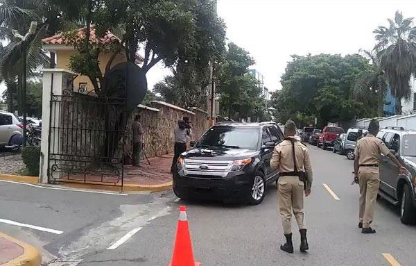 Delegación chavista a su llegada a Santo Domingo | Captura de video