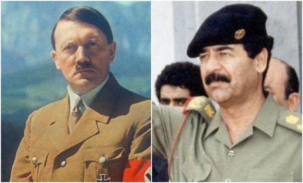 Adolfo Hitler y Sadam Husein