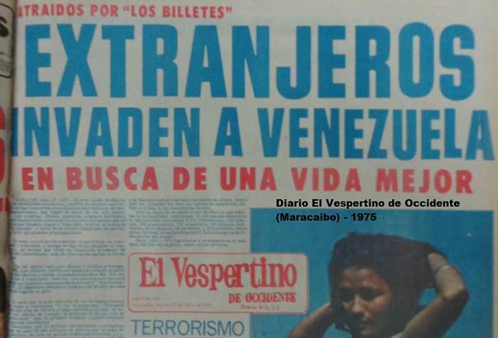 Ola de Inmigrantes llegan a Venezuela en 1976 | Foto: @perezeliezer